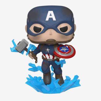 POP Marvel: Endgame- Capt A w/BrokenShield&Mjolnir